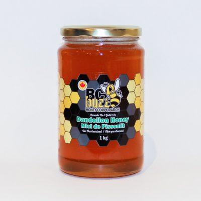 BC Buzz Dandelion Honey 1kg